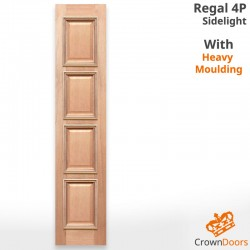 Regal 4P Solid Timber Sidelight with Heavy Moulding