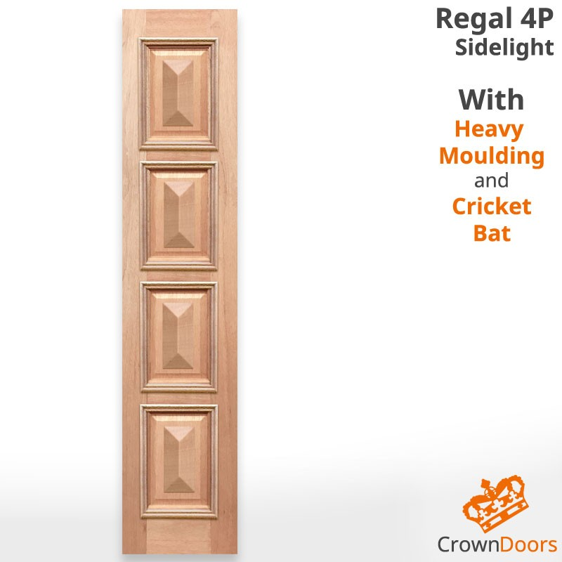 Regal 4P Solid Timber Sidelight with Heavy Moulding and Cricket Bat