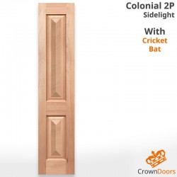 Colonial 2P Solid Timber Joinery Sidelight with Cricket Bat