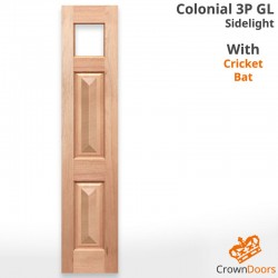 Colonial 3P GL Solid Timber Sidelight with Cricket Bat