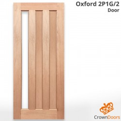 Oxford 2P1G/2 Modern Solid Timber Door