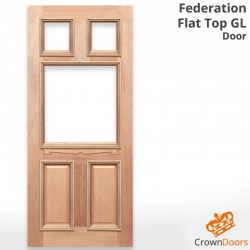 Federation Flat Top GL Solid Timber Door
