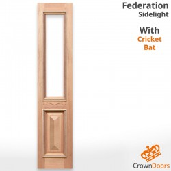 Federation Solid Timber Sidelight with Cricket Bat