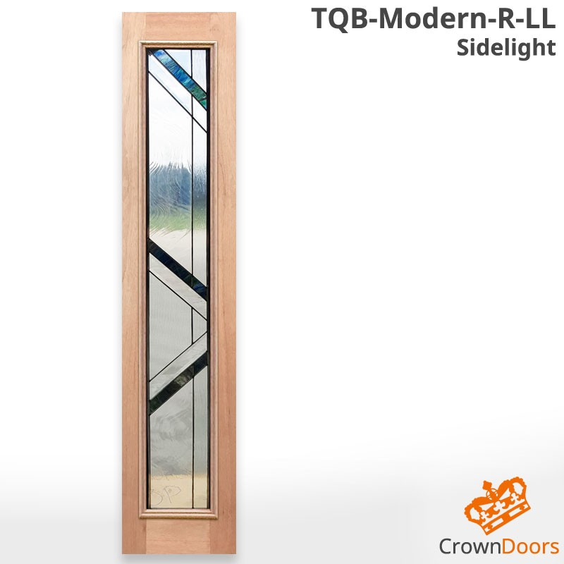 TQB-Modern-R-LL Triple Glazed Solid Timber Sidelight