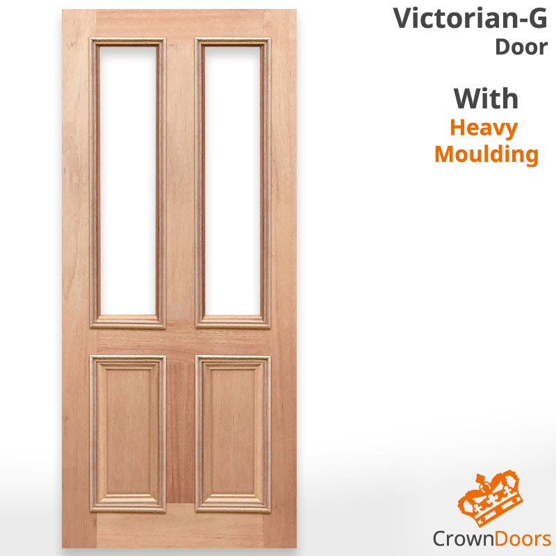 Victorian-G Solid Timber Door with Heavy Moulding