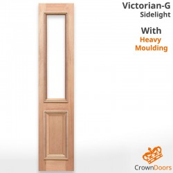 Victorian-G Solid Timber Sidelight with Heavy Moulding