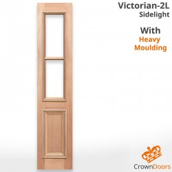 Victorian-2L Solid Timber Sidelight with Heavy Moulding