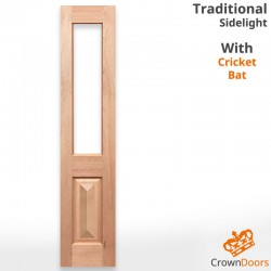 Traditional Unglazed Solid Timber Sidelight with Cricket Bat