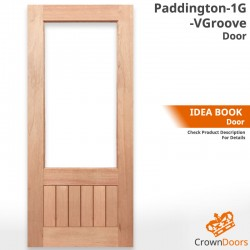 Paddington 1G-VGroove Solid Timber Door