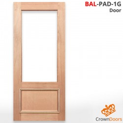 BAL-PAD-1G Solid Timber Door