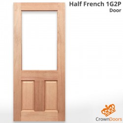 Half French 1G 2P Solid Timber Door