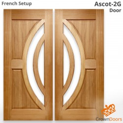 Ascot-2G Solid Timber Doors in French Setup