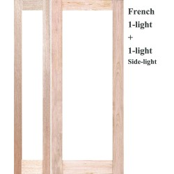 French 1L Solid Timber Door with French 1L Solid Timber Sidelight
