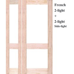 French 2L Solid Timber Door with French 2L Solid Timber Sidelight