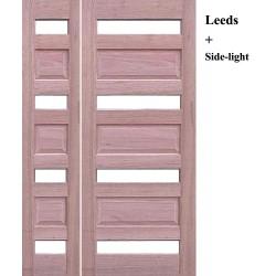 Leeds Modern Solid Timber Door with Leeds Modern Solid Timber Sidelight