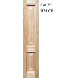 Colonial 2P Solid Timber Joinery Sidelight with Heavy Moulding and Cricket Bat
