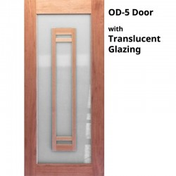 OD5 Modern Solid Timber Door with Translucent Glazing