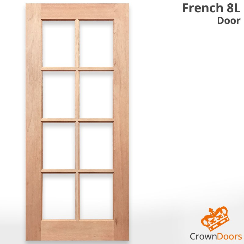French 8L Solid Timber Door