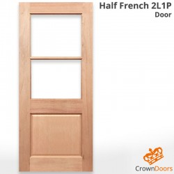 Half French 2L 1P Solid Timber Door