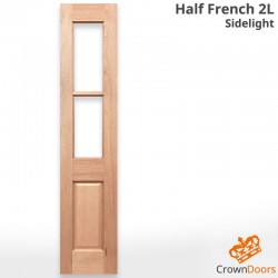 Half French 2L Solid Timber Sidelight