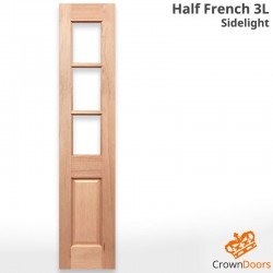 Half French 3L Solid Timber Sidelight