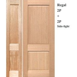 Regal 2P Solid Timber Door with Regal 2P Solid Timber Sidelight