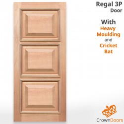 Regal 3P Solid Timber Door with Heavy Moulding and Cricket Bat