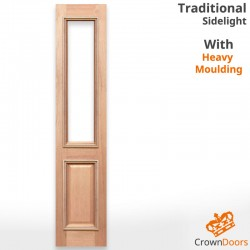 Traditional Unglazed Solid Timber Sidelight with Heavy Moulding