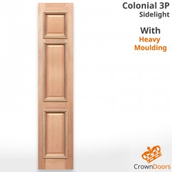 Colonial 3P Solid Timber Sidelight with Heavy Moulding