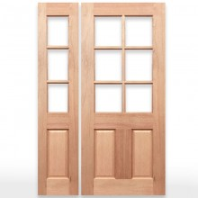 Half French Doors | Solid Timber, Entry, Internal Doors | Crown Doors
